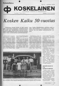 Koskelainen-lehden kansi nro 4 1975